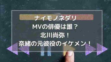 ナイモノネダリMVの俳優は誰?北川尚弥!奈緒の元彼役のイケメン!