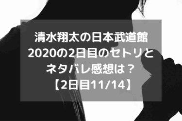 清水翔太の日本武道館2020の2日目のセトリとネタバレ感想は? 【2日目11/14】