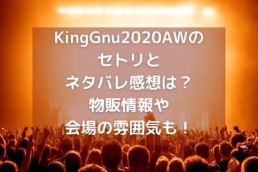KingGnu2020AWの東京公演のセトリとネタバレ感想は?グッズ情報やライブ会場の雰囲気も!