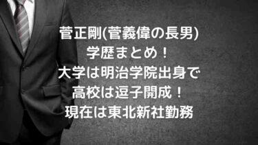 菅正剛の大学は明治学院で高校は逗子開成!(学歴まとめ)幼少期は?【菅義偉の長男】