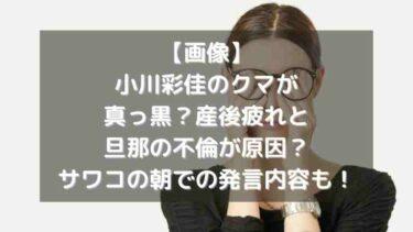 【画像】小川彩佳のクマが真っ黒?産後疲れと旦那の不倫が原因?サワコの朝での発言内容も!
