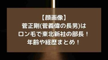 【顔画像】菅正剛(菅義偉の長男)はロン毛!東北新社コネ入社や年齢や経歴は?
