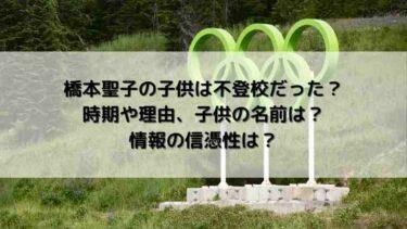 橋本聖子の子供は不登校だった?時期や理由、子供の名前は?情報の信憑性は?
