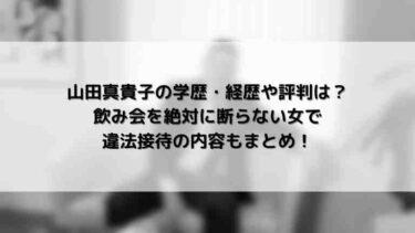山田真貴子の学歴経歴や評判は?飲み会を絶対に断らない女で違法接待の内容もまとめ!