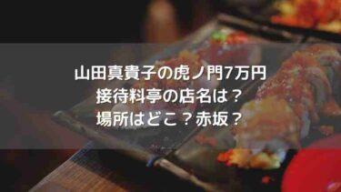 山田真貴子の虎ノ門接待料亭の店名は?場所はどこ?赤坂?【7万円超】