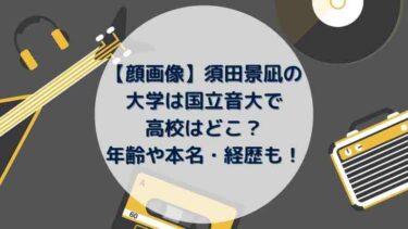 【顔画像】須田景凪の大学は国立音大で高校はどこ?年齢や本名・経歴も!