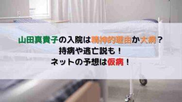 山田真貴子の入院は精神的理由か大病?持病や逃亡説も!ネットの予想は仮病!